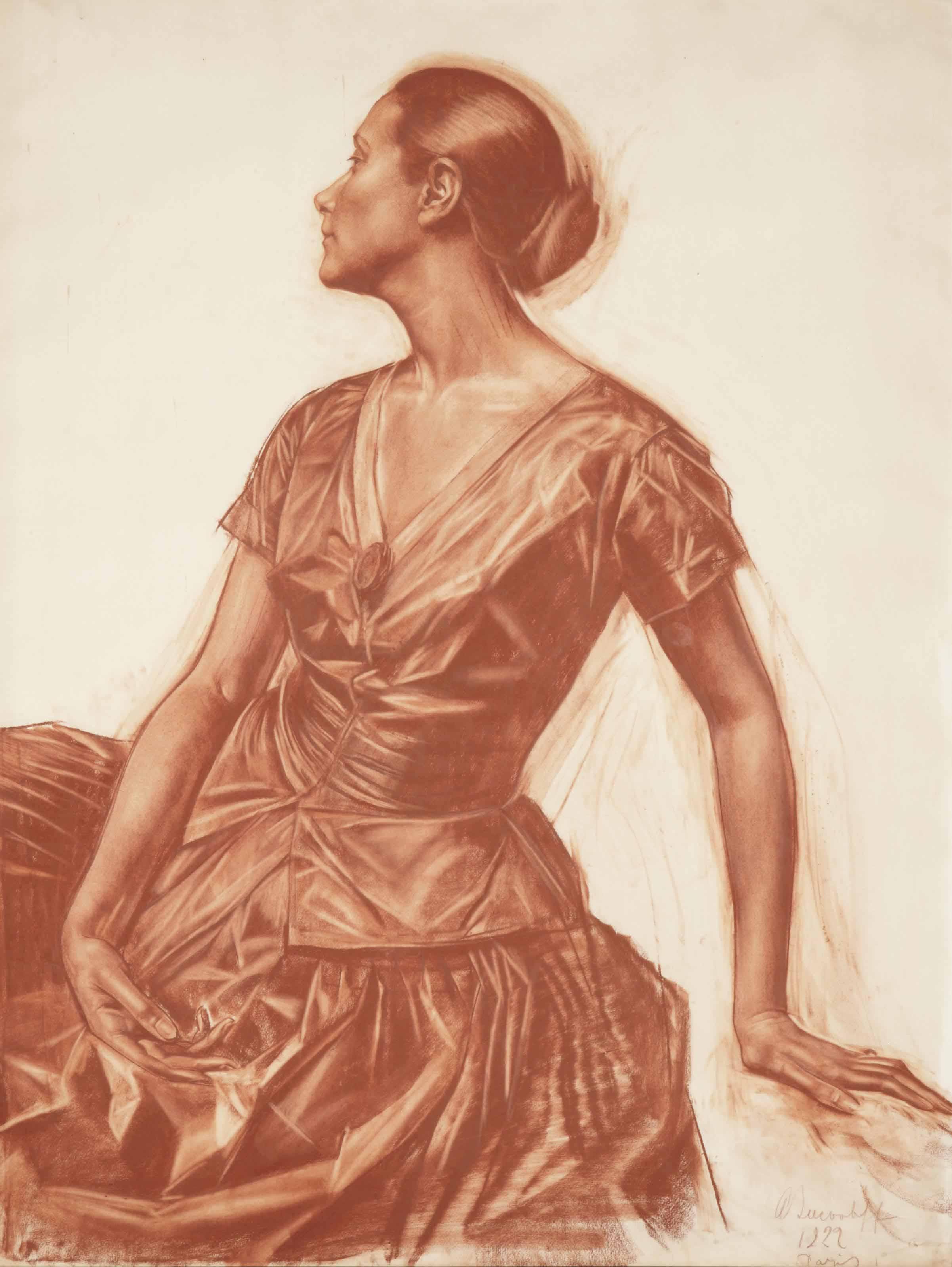 Alexandre Iacovleff (1887-1938) Portrait of Salomé Andronikova (1888-1982)